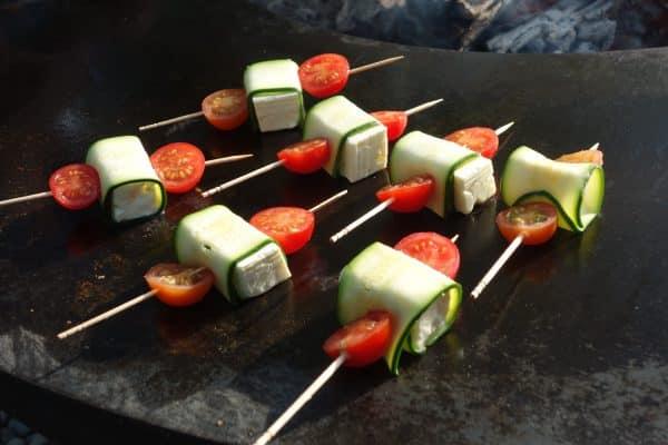 Grillspiessli Fetakäse und Tomate