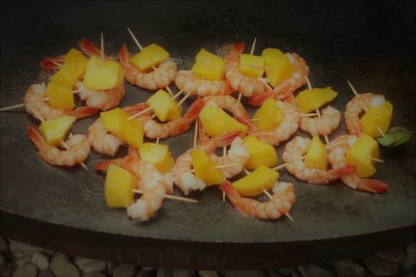 Grillspiessli Crevetten Mango