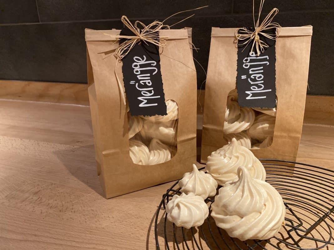 Holzbackofen Meringues verpackt