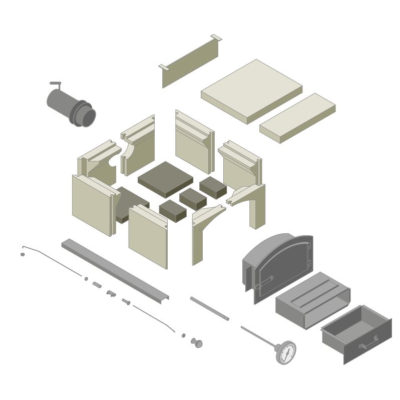 Bausatz Holzbackofen 4/6 Modell