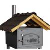 Satteldach Biberschwanz schwarz zu Häussler Holzbackofen HABO