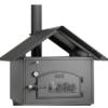 Satteldach mit Fasadenplatten zu Häussler Holzbackofen HABO