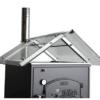 Satteldach aus Glas zu Häussler Holzbackofen HABO