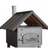 Satteldach aus Zink zu Häussler Holzbackofen HABO