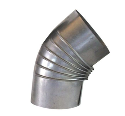 Häussler Holzbackofen 45 Grad Bogen aluminiert