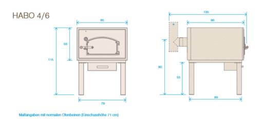Häussler Holzbackofen genaue Masse von HABO