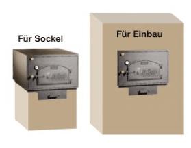 Holzbackofen HABO Varianten Sicht mit Sockelvarianten