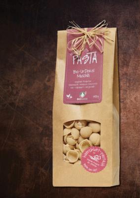 Härzbluet Pasta Packung UrDinkel Muschlä