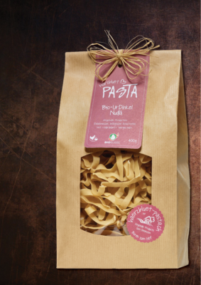 Härzbluet Pasta Packung UrDinkel Nudlä