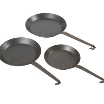 Eisenbratpfanne drei Varianten